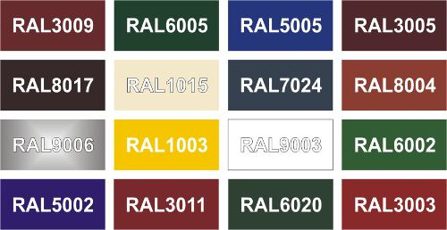 металлочерепица Arcelor Mittal - цвета по RAL