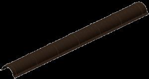 Полукругый конек для металлочерепицы