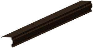 Декоративная торцевая, ветровая планка для металлочерепицы