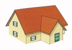 Замір двосхилого даху