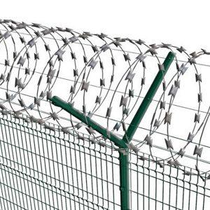 """Спіральний бар'єр безпеки """"Єгоза"""", d-900mm, 3 скоби з'єднання"""