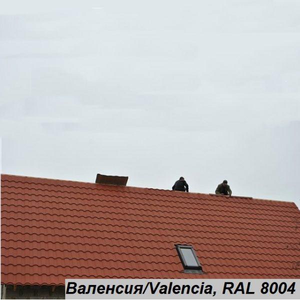 Металочерепиця Валенсія, Китай 0,45 мм, ГЛЯНЕЦЬ