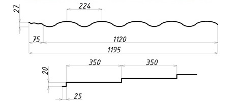 Металлочерепица Валенсия, Китай 0,40 ммa