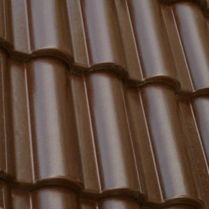 Цементно-піщана черепиця ONDO Marron (темно-коричневий)
