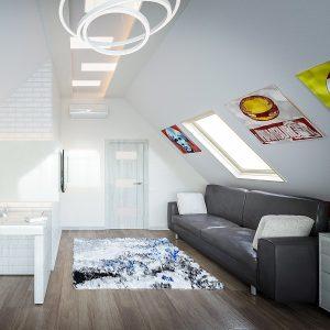 Вікно для мансарди Roto R48WH 94×118 (біла сосна)