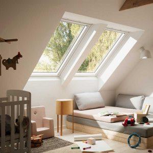 Мансардне вікно Roto R48WH WD 60×104 (біла сосна)