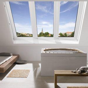 Вікно на покрівлю Roto R45WH WD 80×104 (біла сосна)