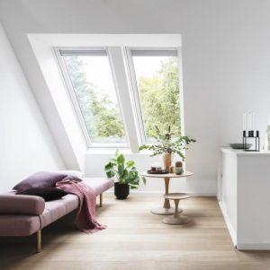 Вікно на горище Roto R45WH 94×140 (біла сосна)