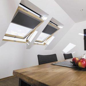 Вікно мансардне Roto R45WH WD 120×146 (біла сосна)