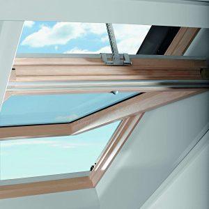 Вікно на покрівлю Roto R69P K WD KK/KG 100×124 (ламінація під дерево)