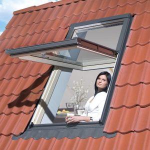 Вікно дахове Roto R48WH 65×118  (біла сосна)