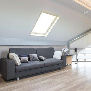 Вікно на дах Roto R65WH WD 120×124 (біла сосна)