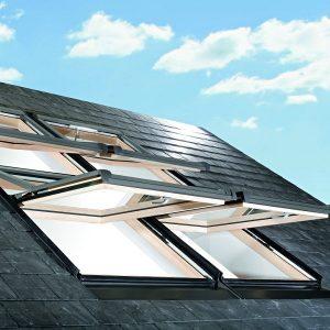 Вікно дахове Roto R69G K WD KK/KG 60×104 (ламінація під дерево)