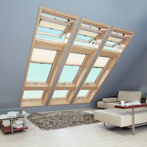 Вікно дахове Roto R65K WD KK/KG 100×146 (ламінація під дерево)