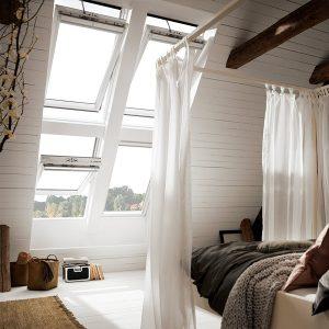 Вікно в дах Roto R65K WD KK/KG 100×124 (ламінація під дерево)