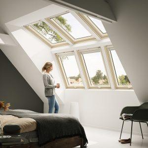 Вікно для покрівлі Roto R69P K WD KK/KG 60×124 (ламінація під дерево)