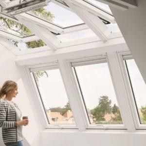 Мансардне вікно Roto R69G K WD KK/KG 120×124 (ламінація під дерево)