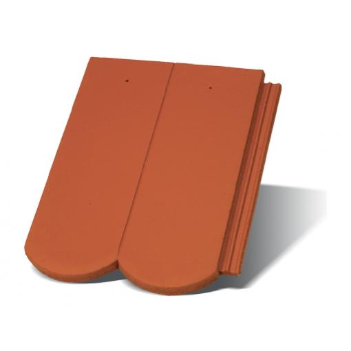Цементна черепиця Терран Рундо CS (кольори: цегельний, бордо, антрацит, коричневий)