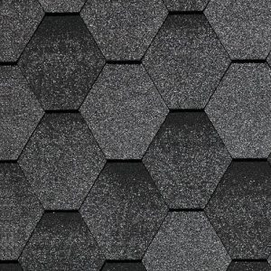 Бітумна черепиця Kerabit Тройка К+ однотон. (колір: Сірий мікс)