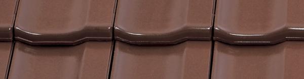 Керамічна черепиця Braas Топаз 13V (покриття – глазур), колір – каштан