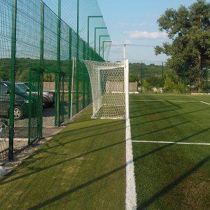 Установка паркану із секцій висотою від 6 м (точечне бетонування) з накінечником