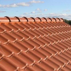 Монтаж натуральної черепиці – середній дах (Тільки покрівельне покриття)