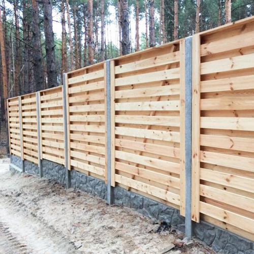 "Дерев'яний паркан ""Шахматка-0"" 2.0х2.0"