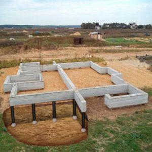 Будівництво монолітного ростверко-свайного фундамента