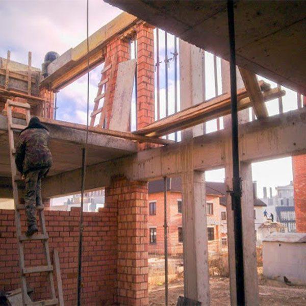 Будівництво монолітної балки перетином 500х500 мм