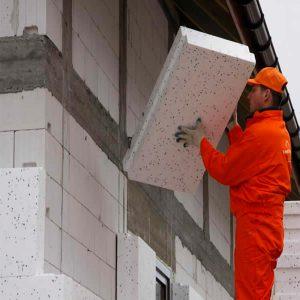 Утеплення фасаду екструдером 50 мм (декор- структурна фарба)