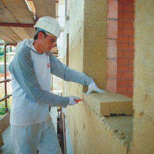 Фасадне утеплення мінеральною ватою 150 мм (декор: мінеральна штукатурка + фарба)