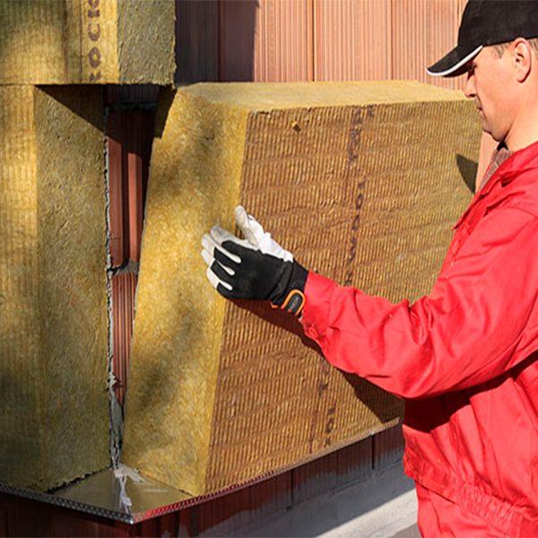 Фасадне утеплення мінеральною ватою 100 мм (декор: тонована штукатурка)