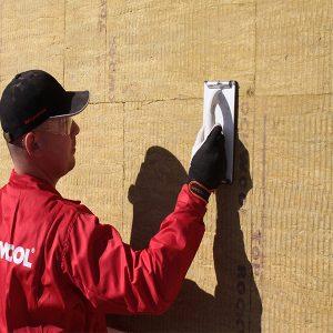 Фасадне утеплення мінеральною ватою 50 мм (декор- структурна фарба)