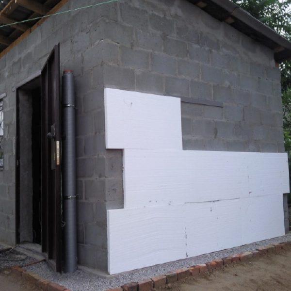 Утеплення фасаду пінопластом 100 мм (без фінішного покриття)