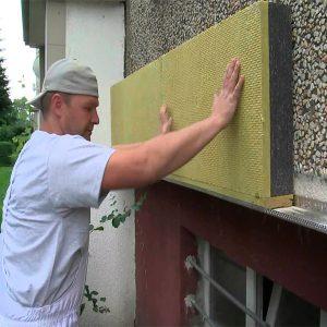 Фасадне утеплення мінеральною ватою 100 мм (без фінішного покриття)