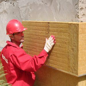 Роботи по утепленню фасаду мінеральною ватою 100 мм (декор- структурна фарба)