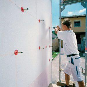 Фасадне утеплення пінопластом 100 мм (декор- структурна фарба)