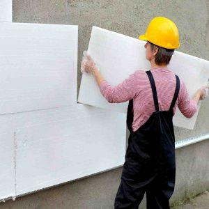 Утеплення фасаду пінопластом 100 мм (декор: тонована штукатурка)