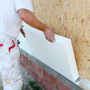 Фасадне утеплення пінопластом 150 мм (без фінішного покриття)
