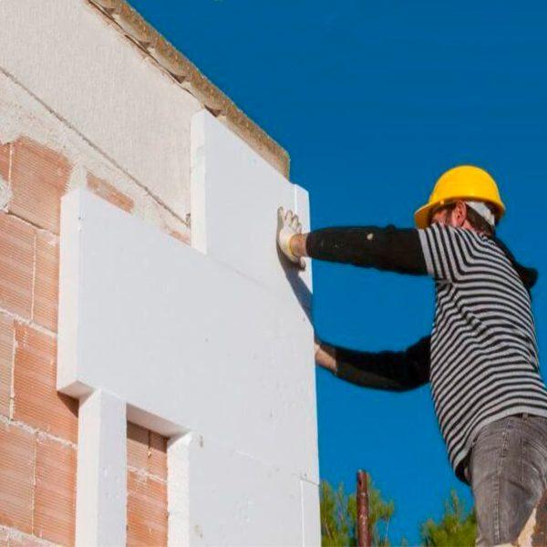 Утеплення фасаду пінопластом 150 мм (декор: мінеральна штукатурка + фарба)