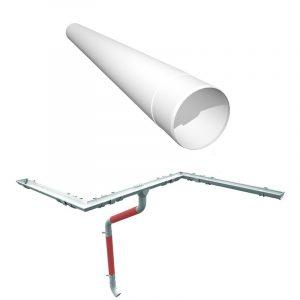 Труба водостічна Ruukki, 4м (система 125/90)