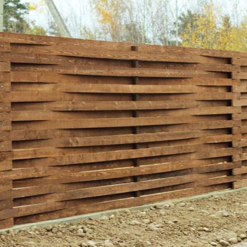 """Дерев'яний паркан """"Плетінка-0"""" 1.7х2.0"""