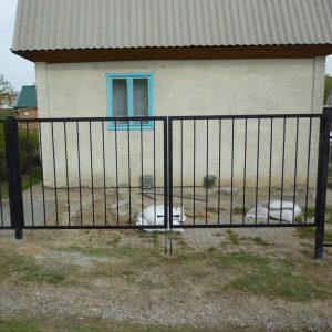 Ворота двостулкові ДЕКО 2000х5000 мм, модель В (03 серія)