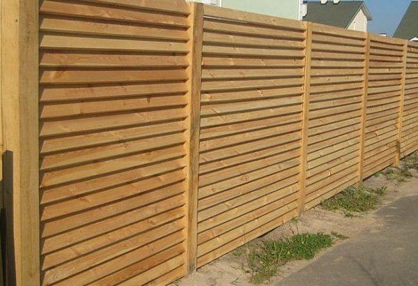 "Дерев'яний паркан ""Жалюзі-0"" 2.0х2.0"